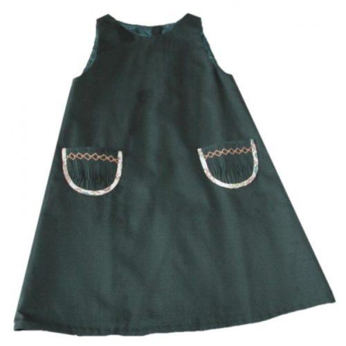 Robe trapèze verte