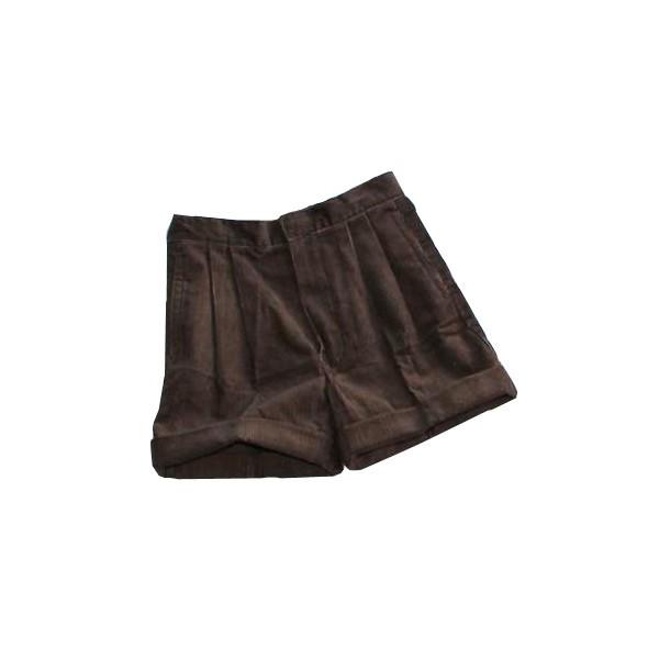 Short velours bronze