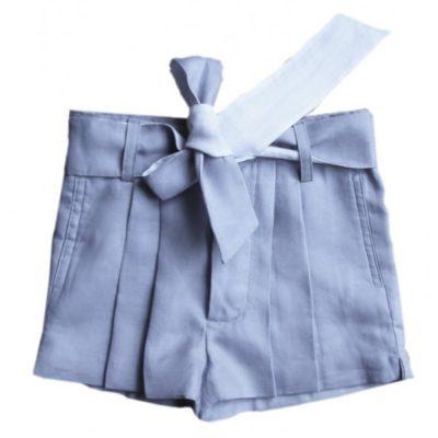Short bleu gris