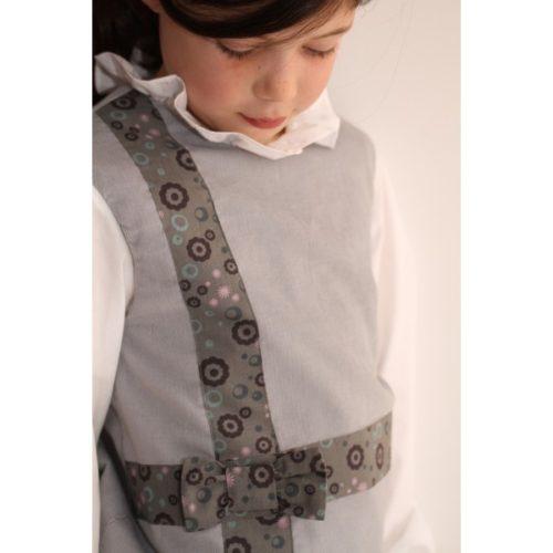 Robe grise trapèze