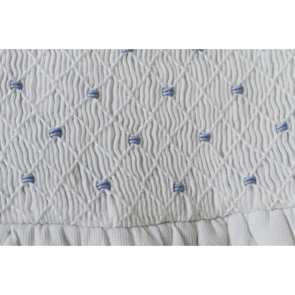 Gigoteuse blanche/bleu GM