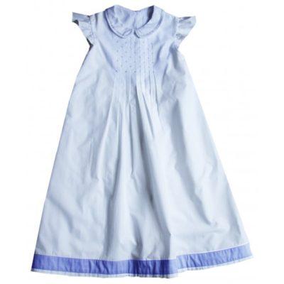 Robe blanche et bleu